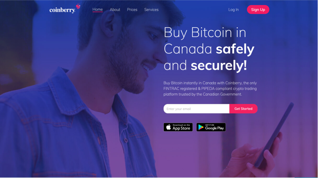 Coinberry-homepage