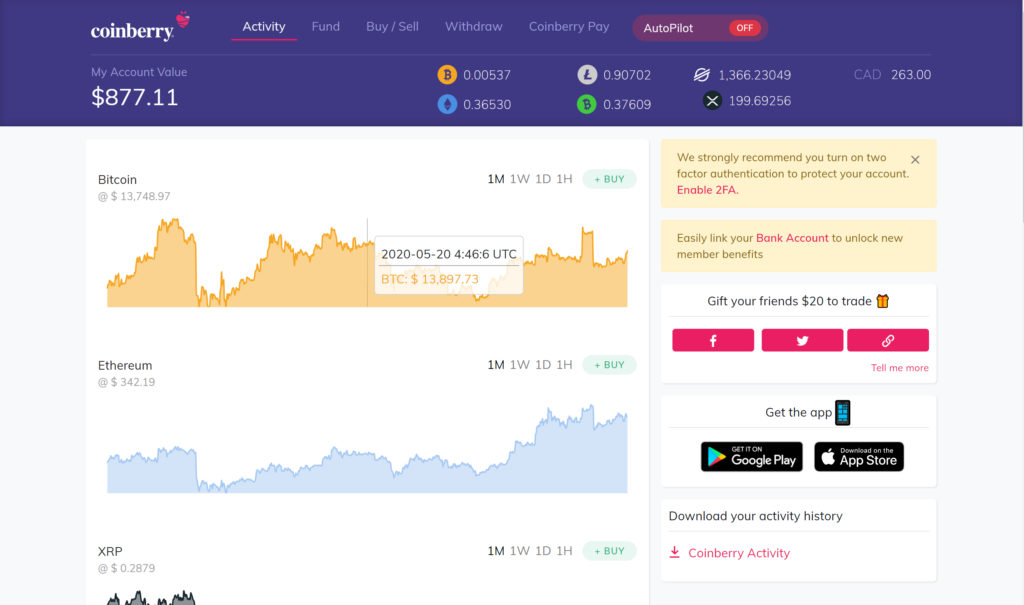 Coinberry-dashboard